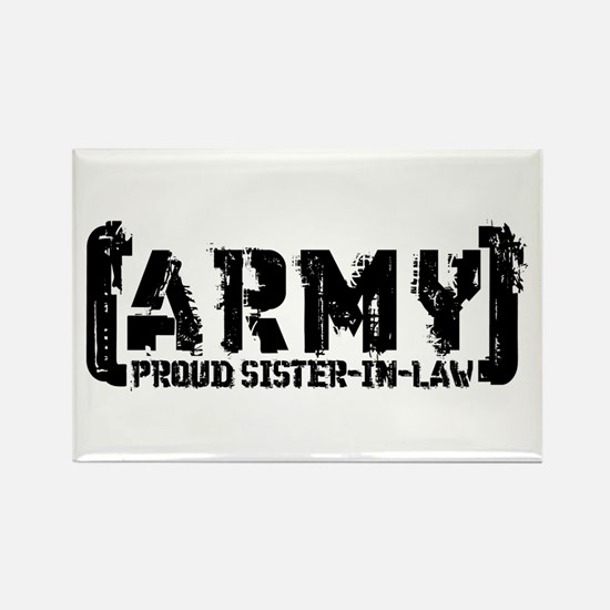 Proud Army Sis-n-Law - Tatterd Style Rectangle Mag