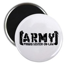 Proud Army Sis-n-Law - Tatterd Style Magnet