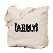 Proud Army Sis - Tatterd Style Tote Bag