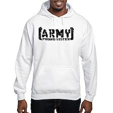 Proud Army Sis - Tatterd Style Hoodie