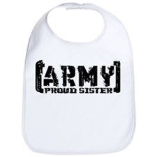 Proud Army Sis - Tatterd Style Bib