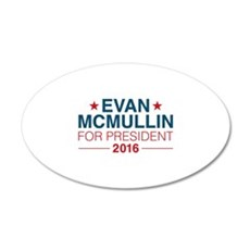 McMullin For President 22x14 Oval Wall Peel