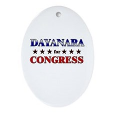 DAYANARA for congress Oval Ornament