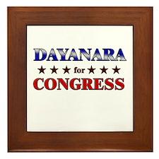 DAYANARA for congress Framed Tile