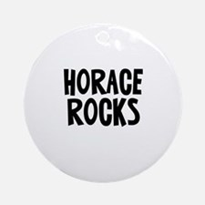 Horace Rocks Ornament (Round)