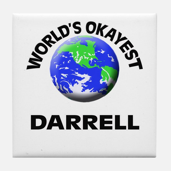World's Okayest Darrell Tile Coaster