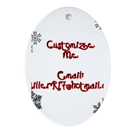 Customizable Holiday Oval Ornament