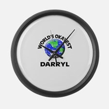 World's Okayest Darryl Large Wall Clock