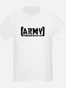 Proud Army Mthr-n-Law - Tatterd Style T-Shirt