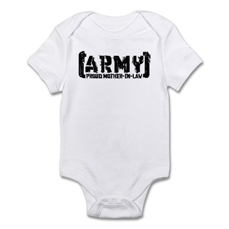 Proud Army Mthr-n-Law - Tatterd Style Infant Bodys