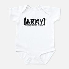 Proud Army Mthr-n-Law - Tatterd Style Infant Bodys