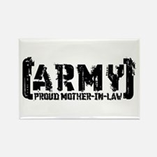 Proud Army Mthr-n-Law - Tatterd Style Rectangle Ma