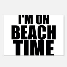 I'm On Beach Time Postcards (Package of 8)