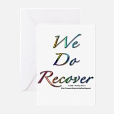 """We Do Recover"" Greeting Cards"