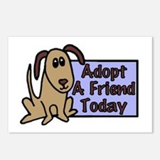 Adopt a Friend Today Doggie Postcards (Package of
