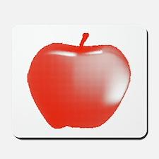 Red Apple Halftone Mousepad