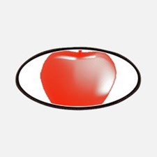 Red Apple Halftone Patch