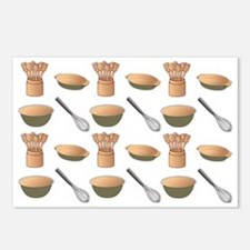 Taupe Green Kitchen Cooki Postcards (Package of 8)