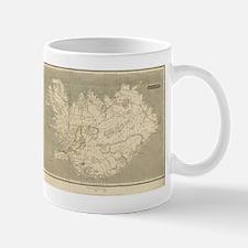 Vintage Map of Iceland (1819) Mugs