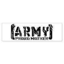 Proud Army Mthr - Tatterd Style Bumper Bumper Sticker