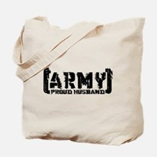 Proud Army Hsbnd - Tatterd Style Tote Bag