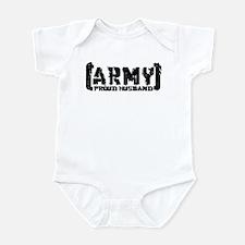 Proud Army Hsbnd - Tatterd Style Infant Bodysuit