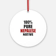 100 % Pure Nepalese Native Round Ornament
