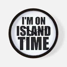 I'm On Island Time Wall Clock