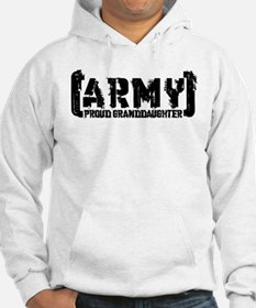 Proud Army Grnddghtr - Tatterd Style Hoodie