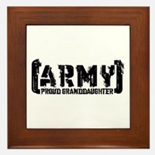 Proud Army Grnddghtr - Tatterd Style Framed Tile