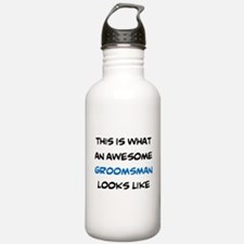 awesome groomsman Water Bottle