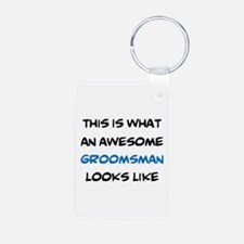 awesome groomsman Keychains