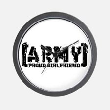 Proud Army GF - Tatterd Style Wall Clock