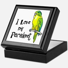 I Love my Parakeet Keepsake Box