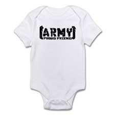Proud Army Friend - Tatterd Style Infant Bodysuit