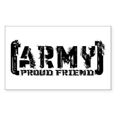 Proud Army Friend - Tatterd Style Sticker (Rectang