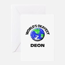World's Okayest Deon Greeting Cards