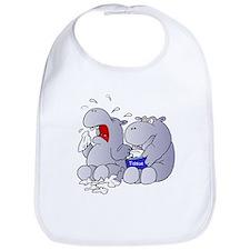 Crying Hippo Bib