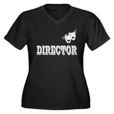 Director Women's Plus Size V-Neck Dark T-Shirt