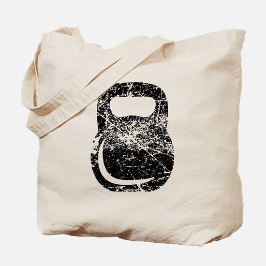 Distressed Kettlebell Tote Bag