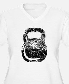 Distressed Kettlebell Plus Size T-Shirt
