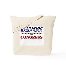DAVON for congress Tote Bag