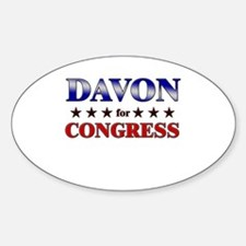 DAVON for congress Oval Decal