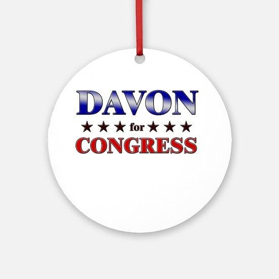 DAVON for congress Ornament (Round)