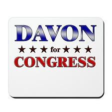 DAVON for congress Mousepad