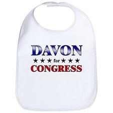DAVON for congress Bib