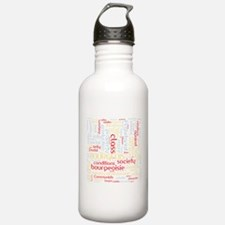Communist Manifesto Word Cloud Water Bottle