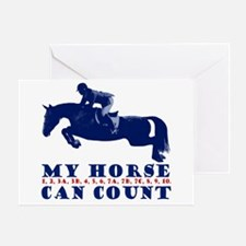 My Horse Can Count Greeting Card