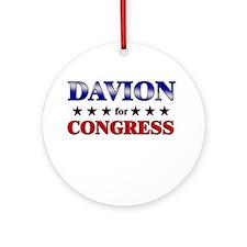 DAVION for congress Ornament (Round)