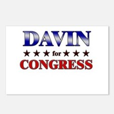 DAVIN for congress Postcards (Package of 8)